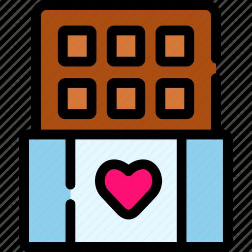 chocolate, love, romance, valentine icon