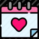 calendar, date, love, valentine icon