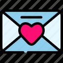 love, mail, romance, valentine icon