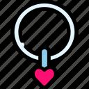love, necklace, romance, valentine icon