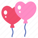 balloon, happy, love, heart, valentine