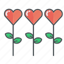flower, flowers, heart, hearts, love, valentine, valentines icon
