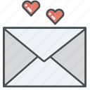 heart, love, valentines, valentine, letter, letters, hearts icon