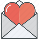heart, hearts, letter, letters, love, valentine, valentines icon