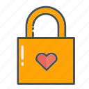 heart, hearts, lock, locks, love, valentine, valentines icon