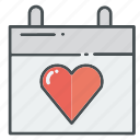 february, heart, hearts, love, month, valentine, valentines icon