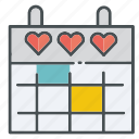 heart, february, love, valentines, valentine, hearts, month icon