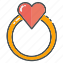heart, hearts, jewelry, love, ring, valentine, valentines icon