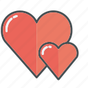 heart, hearts, love, shape, valentine, valentines, wedding icon