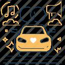 rings, vehicle, wedding, car