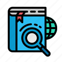 glas, online, cloud, magnifying, search icon