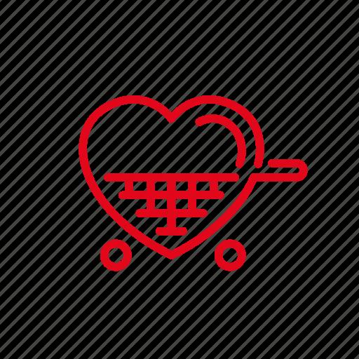 chart, discount, love, market, romance, shop icon