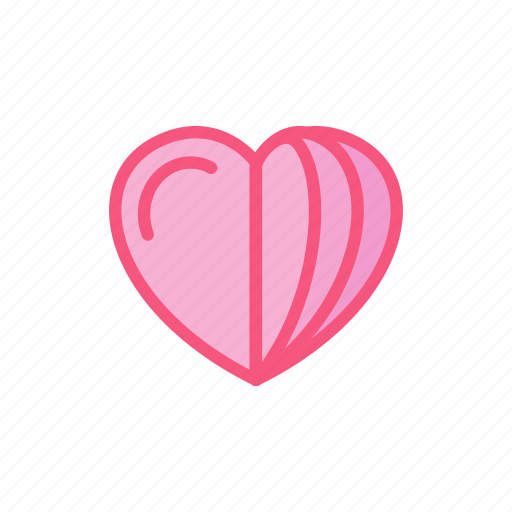 book, document, heart, love, paper, stack icon