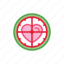 aim, heart, love, shoot, target icon