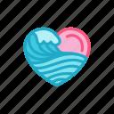 love, ocean, sea, surfing, wave, heart, valentine