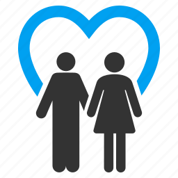 adult pair, couple, love, marriage, people family, social relations, wedding icon