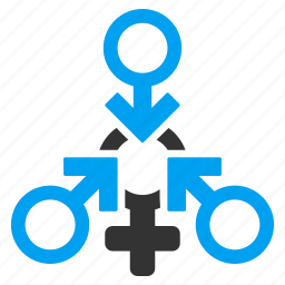 female relations, heterosexual, polyandry, sexual orgy, sexuality, sexy lady, triple penetration icon