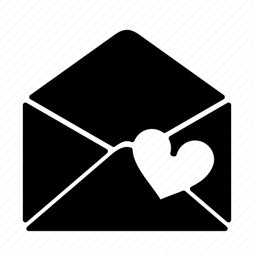 envelope, heart, letter, love, mail, message, newsletter icon