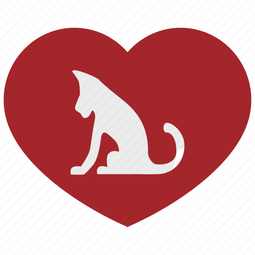 Cat, heart, love, puma, romantic, tiger, wild icon - Download on Iconfinder