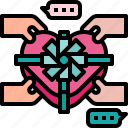 chocolate, gift, love, sweet, valentine icon icon