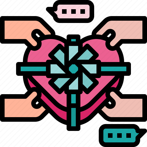chocolate, gift, love, sweet, valentine icon icon