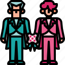 couple, gay, love, marriage, wedding icon