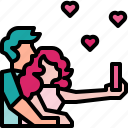 hug, lovely, photo, selfie, smartphone, valentine icon