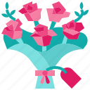 blossom, botanical, bouquet, flowers, love, romance, wedding icon