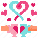 coffee, cup, drink, love, valentine icon