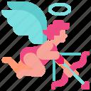angel, arrow, cupid, love, valentine icon icon