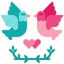 bird, dove, love, peace, pigeon icon