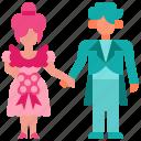 bride, couple, groom, love, wedding icon