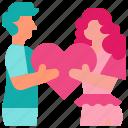 couple, heart, hug, love, valentine icon