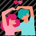 cute, hae, hand, heart, love icon, sarang, yo