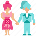 couple, love, marriage, transvestite, wedding, woman icon
