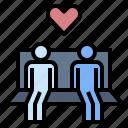 close up, flirt, love, relationship, romantic, secretly love, sitting