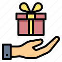 birthday, donation, gift, give, offer, present, sale