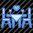 date, dinner, love, romance icon