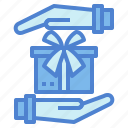 gift, hand, party, present icon