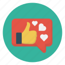 chat, heart, like, love, message