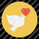 birds, fly, love, peace, valentine