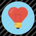 bulb, light, like, love, valentine