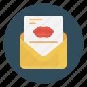 envelope, kiss, letter, love, open