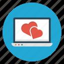 laptop, love, online, romance, valentine