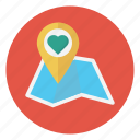 favorite, location, love, map, navigation