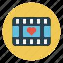 filmstrip, love, movie, reel, valentine