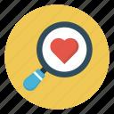 heart, like, love, search, valentine