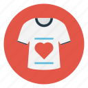 cloth, love, shirt, valentine, wear