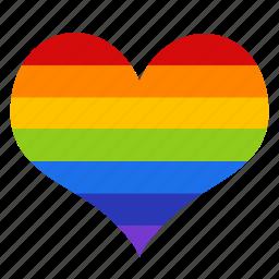 gay, gay pride, heart, homosexual, love, pride, romantic icon