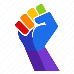 fist, gay, gay pride, hand, power, rainbow, strong icon